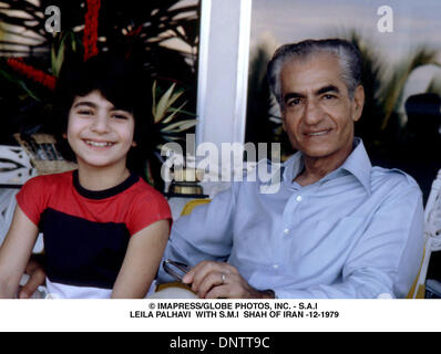 June 15, 2001 - © IMAPRESS/   S.A.I LEILA PALHAVI  WITH S.M.I  SHAH OF IRAN -12-1979(Credit Image: © Globe Photos/ZUMAPRESS.com) - Stock Photo