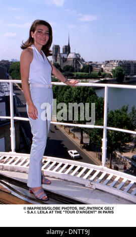June 15, 2001 - © IMAPRESS/   PATRICK GELY - S.A.I. LEILA AT THE ''TOUR D'ARGENT'' IN PARIS(Credit Image: © Globe - Stock Photo