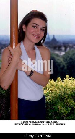 June 15, 2001 - © IMAPRESS/   PATRICK GELY - 06-1998 -  S.A.I. LEILA  IN PARIS(Credit Image: © Globe Photos/ZUMAPRESS.com) - Stock Photo