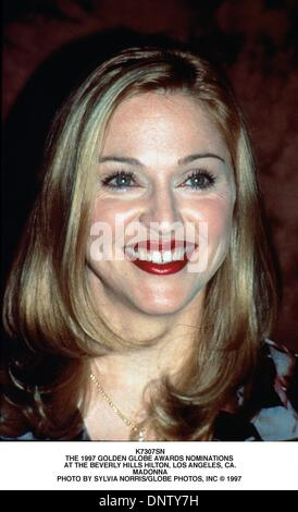 May 11, 2001 - K7307SN.THE 1997 GOLDEN   AWARDS NOMINATIONS AT THE BEVERLY HILLS HILTON, LOS ANGELES, CA..MADONNA. - Stock Photo