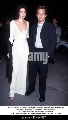 Mar. 16, 1999 - K15104HMc     03/16/99.''EARTHLY POSSESSIONS'' HBO MOVIE PREMIERE.AT WEST CHELSEA THEATRE, NYC..STEPHEN - Stock Photo