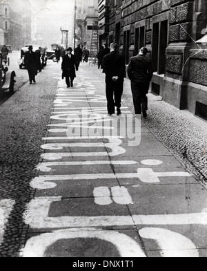 Oct. 25, 1933 - Berlin, Germany - Propaganda for the German Nazi Party on the pavement in Berlin. (Credit Image: - Stock Photo
