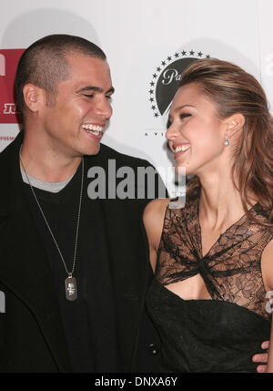 Dec 02, 2005; Los Angeles, CA, USA;  Actress JESSICA ALBA and CASH WARREN at  Flaunt Magazine's 7 Year Anniversary - Stock Photo