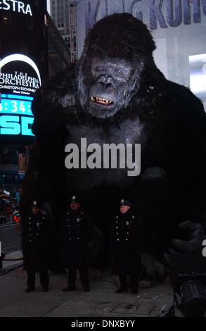 Dec 05, 2005; New York, NY, USA; KING KONG  at the 'King Kong' NYC - Press Conference in Times Square.  Mandatory - Stock Photo