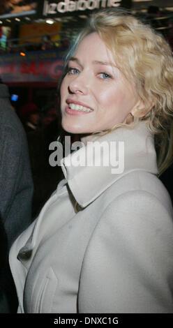 Dec 05, 2005; New York, NY, USA; Actress NAOMI WATTS at the 'King Kong' press conference held at Times Square. Mandatory - Stock Photo