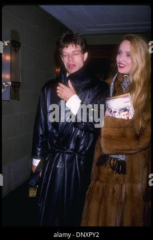 Hollywood, CA, USA;  MICK JAGGER and JERRY HALL are shown in an undated photo.  Mandatory Credit: Kathy Hutchins/ZUMA - Stock Photo
