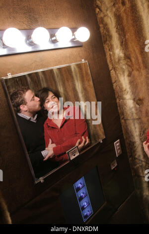 Dec 25, 2006 - San Francisco, CA, USA - Flickr co-founders STEWART BUTTERFIELD and CATERINA FAKE pose in a Flickr - Stock Photo