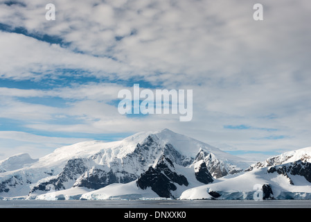 ANTARCTICA - A shot of the scenic mountains of Antarctica along the Gerlache Straight on the western side of the - Stock Photo