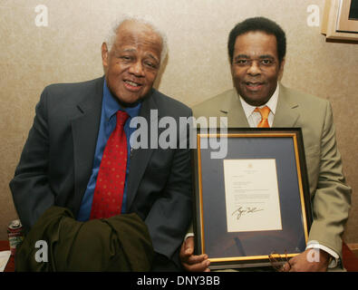 Jan 13, 2006; New York, NY, USA; Trombonist, composer, arranger SLIDE HAMPTON and inductee trumpeter FREDDIE HUBBARD - Stock Photo
