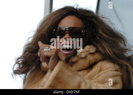Jan 16, 2006; Manhattan, New York, USA; Radio personality WENDY WILLIAMS speaks as thousands of members and supporters - Stock Photo