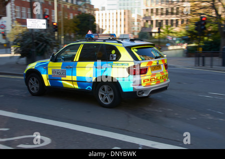 Police car in the city of London, England. - Stock Photo