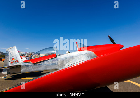 Van's Aircraft RV8; Antique and modern airplanes at the annual Salida ArtWalk Fly-In event - Stock Photo