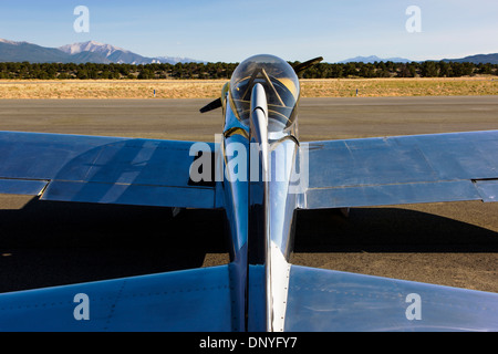 Van's Aircraft RV4; Antique and modern airplanes at the annual Salida ArtWalk Fly-In event - Stock Photo
