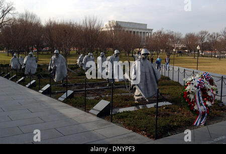 Feb 07, 2006; Washington, DC, USA; The Korean War Veterans Memorial located in Washington, DC.  From its celebrated - Stock Photo