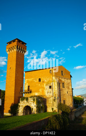 Fortezza Vecchia the old fortress by the River Arno central Pisa city Tuscany region Italy Europe - Stock Photo