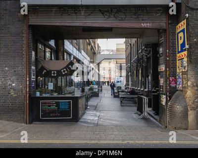 Entrance to the Truman Brewery, Brick Lane, London, England - Stock Photo