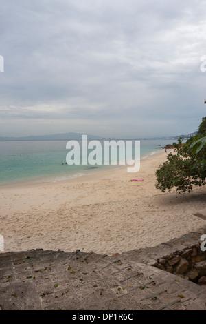 Pacific ocean beach and cloudy time. Puerto Vallarta, Jalisco. Mexico - Stock Photo