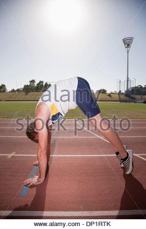 Runner on track - Stock Photo