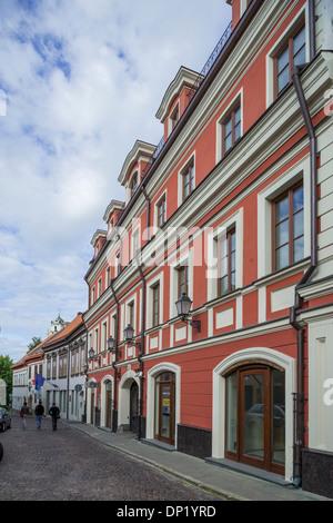Houses in the historic centre, Senamiestis or Vilnius Old Town, Vilnius, Vilnius district, Lithuania - Stock Photo
