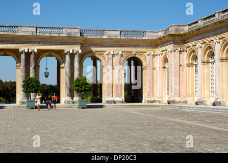 Pleasure Palace of Grand Trianon in the Park of Versailles, Paris, Île-de-France, France - Stock Photo
