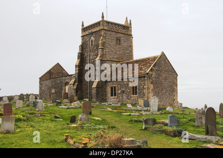 St.Nicholas (old church), Uphill, Weston Super Mare, England - Stock Photo