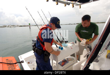 May 26, 2006; Riviera Beach, FL, USA; Jason Sullivan of West Palm Beach,  was pulled over by the Coast Guard (FN) - Stock Photo