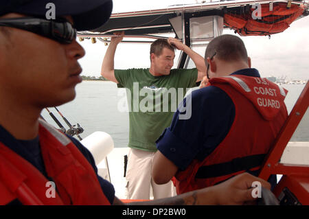 May 26, 2006; Riviera Beach, FL, USA; Jason Sullivan of West Palm Beach, (green shirt), scratches his head after - Stock Photo