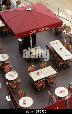 Café Rouge inside the Cabot Circus shopping centre in Bristol. - Stock Photo