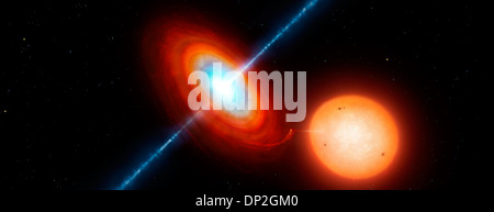 Microquasar X-ray binary system - Stock Photo