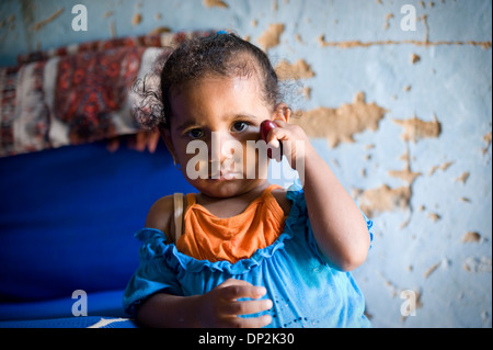 EGYPT, BELBEIS: In rural areas living conditions often are very simple and poor. - Stock Photo