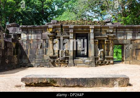 Asia Sri Lanka, Polonnaruwa, the ruins of the medieval capital city - Stock Photo