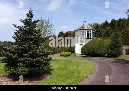 THE PALMER HOUSE GAZEBO IN THE GROUNDS OF RHS ROSEMOOR. DEVON UK. - Stock Photo