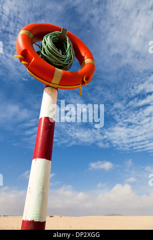Lifebuoy in a desert - Stock Photo