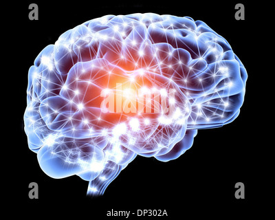 Brain, neural network - Stock Photo