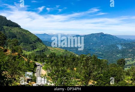 Asia Sri Lanka, landscape of the Ramboda valley - Stock Photo