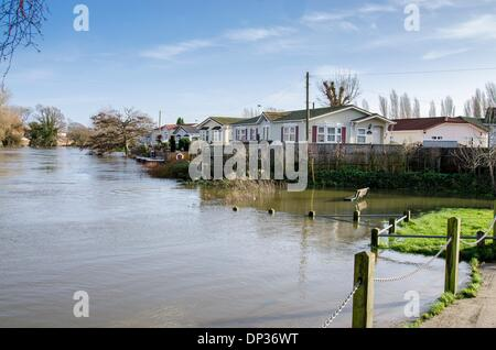 Iford Bridge Home Park Christchurch And Flood Levels Of