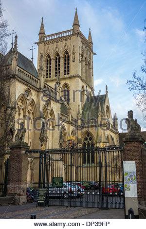 Gate to St Johns College in St John's Street, Cambridge - Stock Photo