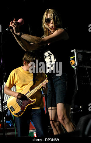 Jul 13, 2006; Santa Barbara, CA, USA; KIM GORDON, of Sonic Youth, performs at the Santa Barbara Bowl on July 13, - Stock Photo