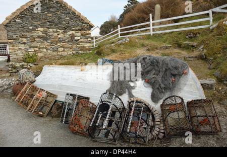 Glencolumbkille Folk Village Museum County Donegal Ireland - Stock Photo