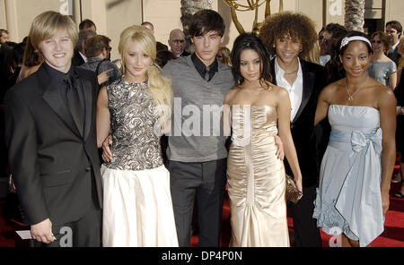 August 19, 2006; Los Angeles, CA, USA; Cast members of 'High School Musical', from left, LUCAS GRABEEL, ASHLEY TISDALE, - Stock Photo