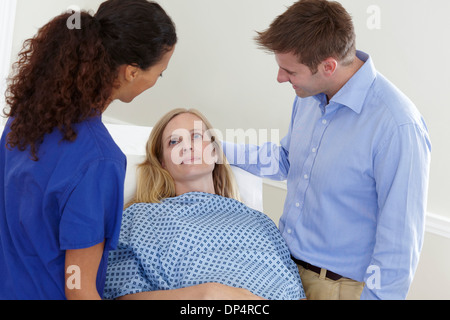 Woman preparing for medical procedure - Stock Photo