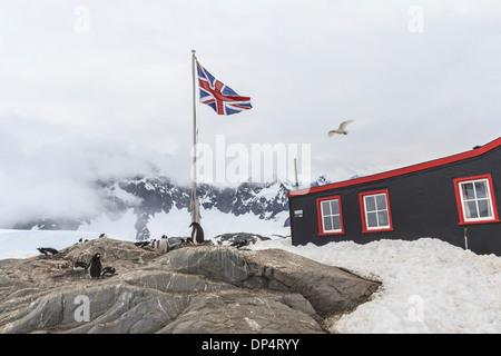 Port Lockroy Antarctic base - Stock Photo