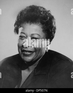 Ella Fitzgerald (1917-1996), American Jazz and Blues Singer, Portrait, circa 1960 - Stock Photo