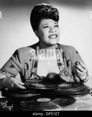 Ella Fitzgerald (1917-1996), American Jazz and Blues Singer, Portrait, circa 1940's - Stock Photo