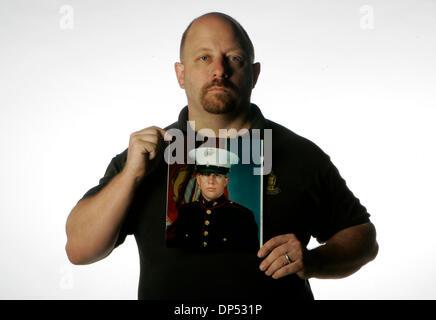 Aug 29, 2006; San Diego, CA, USA; JOHN JODKA JR., the father of U.S. Marine Corps Private First Class JOHN JODKA - Stock Photo