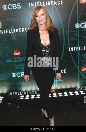 Las Vegas, Nevada, USA. 7th Jan, 2014. Actress Marg Helgenberger attends the premiere party of CBS TV 'Intelligence' - Stock Photo