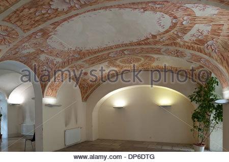 Wien, Finanzamt für den 8., 16., 17. Bezirk, Josefstädterstrasse 39, Palais Strozzi, Hintertrakt - Stock Photo