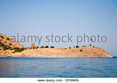 armenian church of the holy cross,akdamar island,anatolia,turkey - Stock Photo