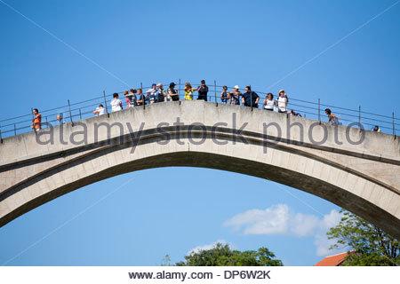 the old bridge,mostar,bosnia and herzegovina,europe - Stock Photo