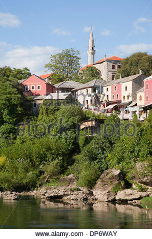 old town,east side of mostar,bosnia and herzegovina,europe - Stock Photo